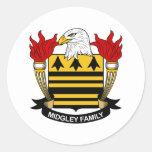 Escudo de la familia de Midgeley Etiquetas Redondas