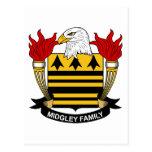 Escudo de la familia de Midgeley Postales