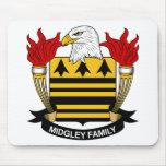 Escudo de la familia de Midgeley Alfombrilla De Ratón