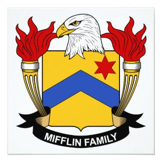 """Escudo de la familia de Mifflin Invitación 5.25"""" X 5.25"""""""