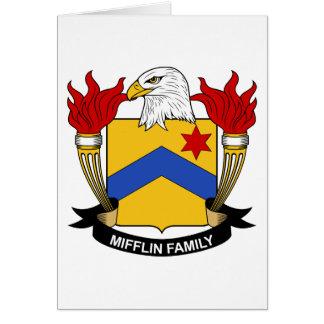 Escudo de la familia de Mifflin Tarjeta De Felicitación