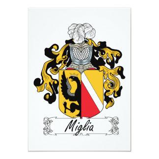 """Escudo de la familia de Miglia Invitación 5"""" X 7"""""""