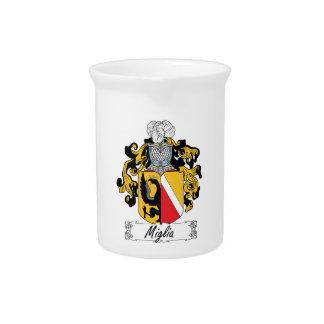 Escudo de la familia de Miglia Jarra De Beber