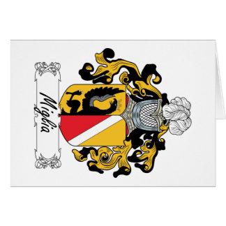 Escudo de la familia de Miglia Tarjeta De Felicitación