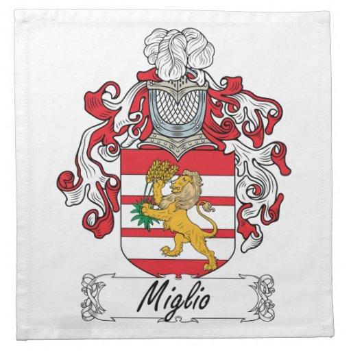 Escudo de la familia de Miglio Servilleta