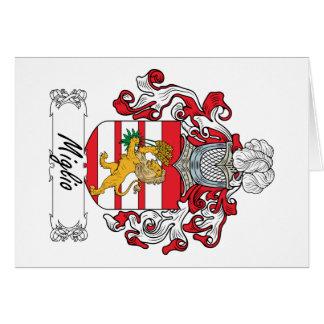 Escudo de la familia de Miglio Tarjeta De Felicitación
