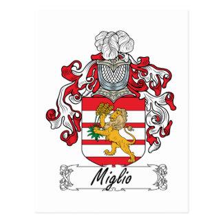 Escudo de la familia de Miglio Tarjeta Postal