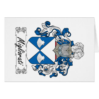 Escudo de la familia de Migliorati Tarjeta