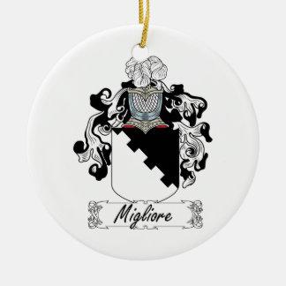 Escudo de la familia de Migliore Ornamento De Navidad