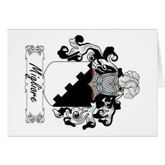 Escudo de la familia de Migliore Tarjeta De Felicitación