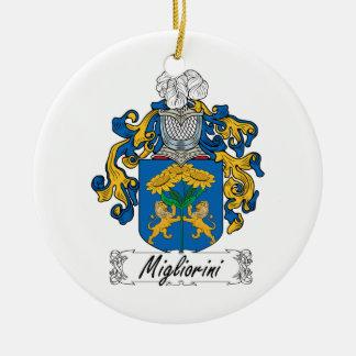 Escudo de la familia de Migliorini Adorno Navideño Redondo De Cerámica