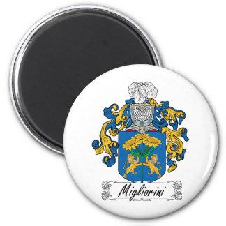 Escudo de la familia de Migliorini Imán Redondo 5 Cm