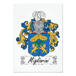 """Escudo de la familia de Migliorini Invitación 5"""" X 7"""""""