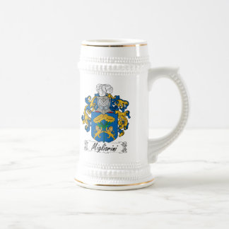 Escudo de la familia de Migliorini Jarra De Cerveza