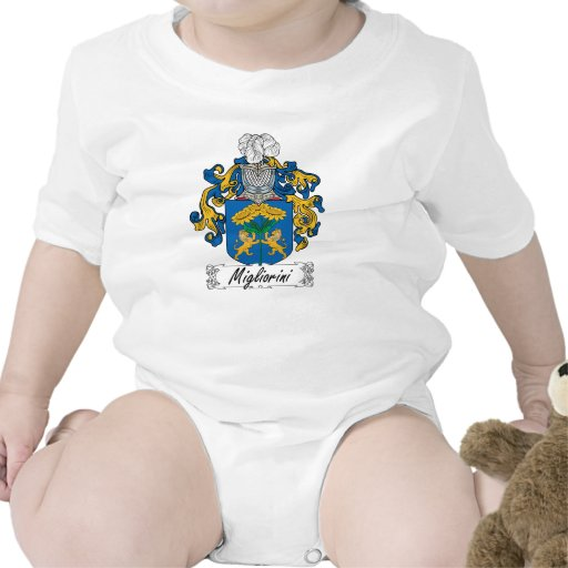 Escudo de la familia de Migliorini Traje De Bebé