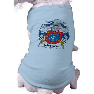 Escudo de la familia de Migueis Playera Sin Mangas Para Perro