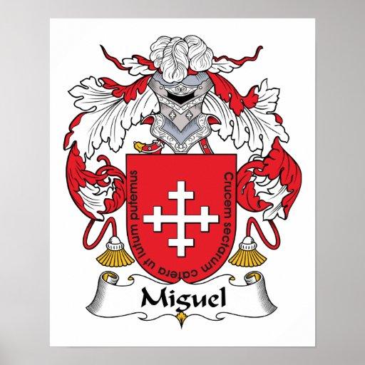 Escudo de la familia de Miguel Poster