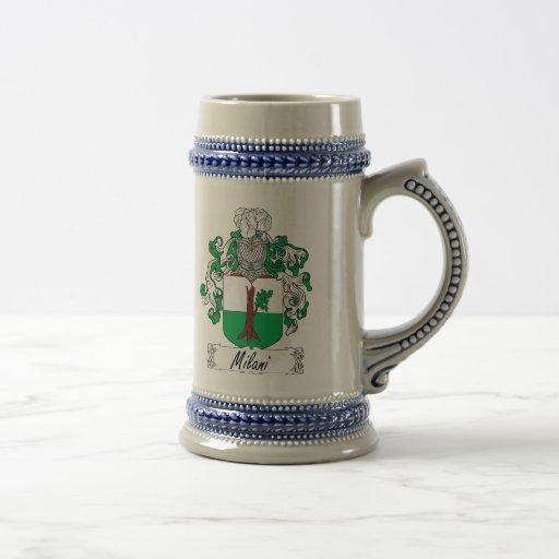 Escudo de la familia de Milani Jarra De Cerveza