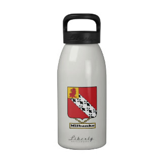Escudo de la familia de Milbanke Botellas De Agua Reutilizables