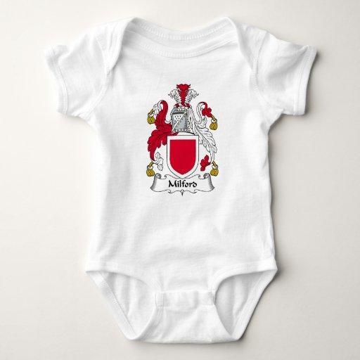 Escudo de la familia de Milford T-shirts