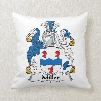 Escudo de la familia de Miller Cojín Decorativo