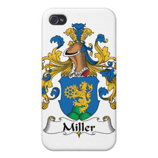 Escudo de la familia de Miller iPhone 4 Carcasas