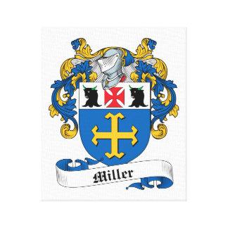 Escudo de la familia de Miller Lona Envuelta Para Galerías