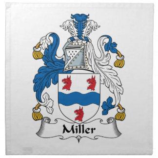 Escudo de la familia de Miller Servilleta