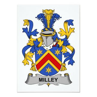 """Escudo de la familia de Milley Invitación 5"""" X 7"""""""