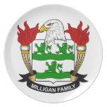 Escudo de la familia de Milligan Platos De Comidas
