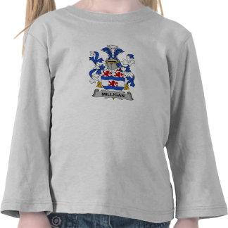 Escudo de la familia de Milligan Camisetas