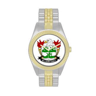 Escudo de la familia de Milligan Reloj