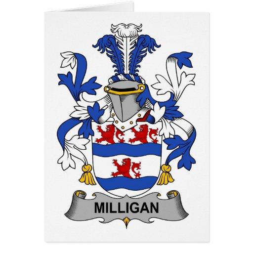 Escudo de la familia de Milligan Tarjeton