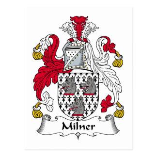 Escudo de la familia de Milner Tarjeta Postal