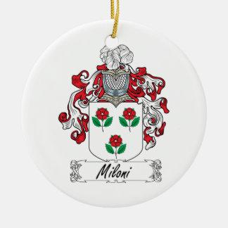 Escudo de la familia de Miloni Ornamento Para Arbol De Navidad