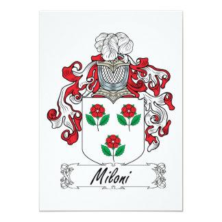 Escudo de la familia de Miloni Invitación