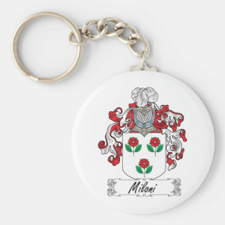 Escudo de la familia de Miloni Llavero Redondo Tipo Pin