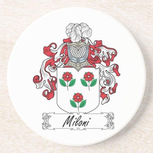 Escudo de la familia de Miloni Posavasos Diseño