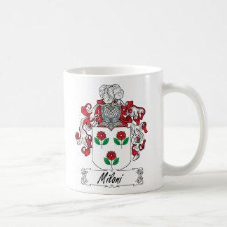 Escudo de la familia de Miloni Tazas De Café