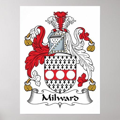 Escudo de la familia de Milward Posters
