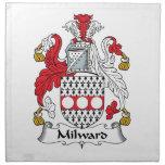 Escudo de la familia de Milward Servilletas De Papel