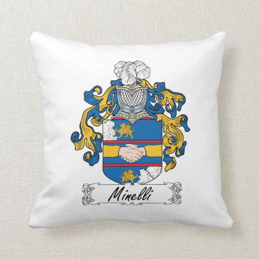 Escudo de la familia de Minelli Almohadas