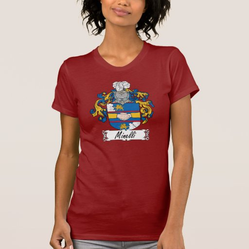 Escudo de la familia de Minelli Camisetas