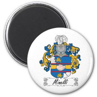 Escudo de la familia de Minelli Imán Redondo 5 Cm