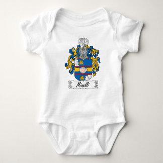 Escudo de la familia de Minelli Mameluco De Bebé