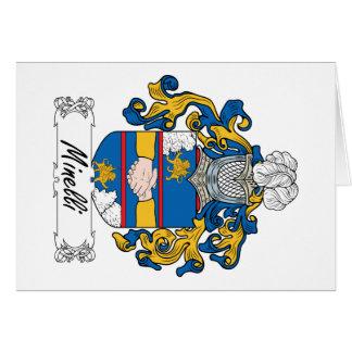 Escudo de la familia de Minelli Tarjeta De Felicitación