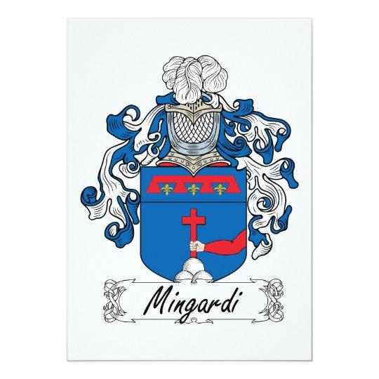 """Escudo de la familia de Mingardi Invitación 5"""" X 7"""""""