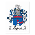 Escudo de la familia de Mingardi Tarjeta Postal