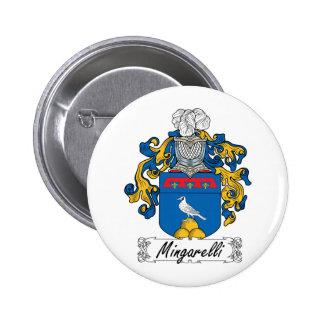 Escudo de la familia de Mingarelli Pin Redondo De 2 Pulgadas