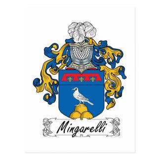 Escudo de la familia de Mingarelli Postales